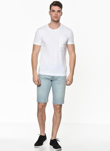 Calvin Klein Jean Şort Mavi